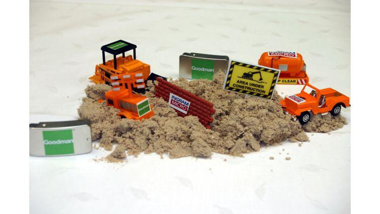 Mit diesem Modell übte Ingram Micro seit Monaten den Baustellenbetrieb.