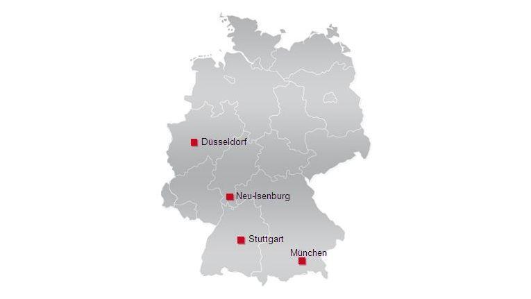Derzeit ist inforsacom mit vier Standorten in Deutschland vertreten