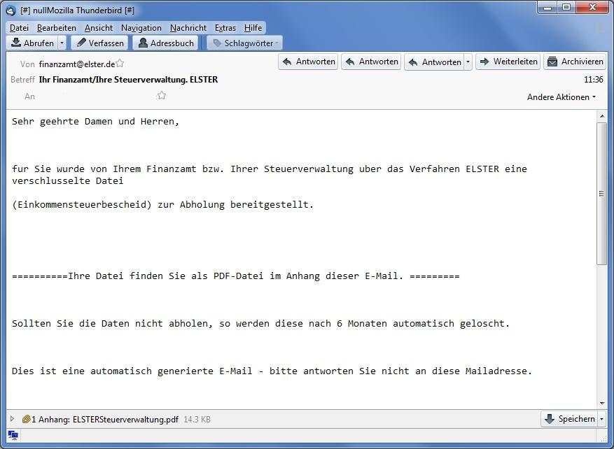 Bild Beispiel Für Einen Gefährlichen E Mail Anhang