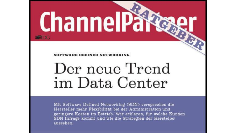 """Titelseite des ChannelPartner-Ratgebers """"Der neue Trend im Data Center"""""""