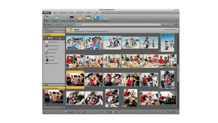 Bilder bearbeiten mit Magix Foto Manager.