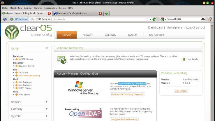 SBS-Alternative 3: Zentyal Small Buiness Server - Alternativen zu