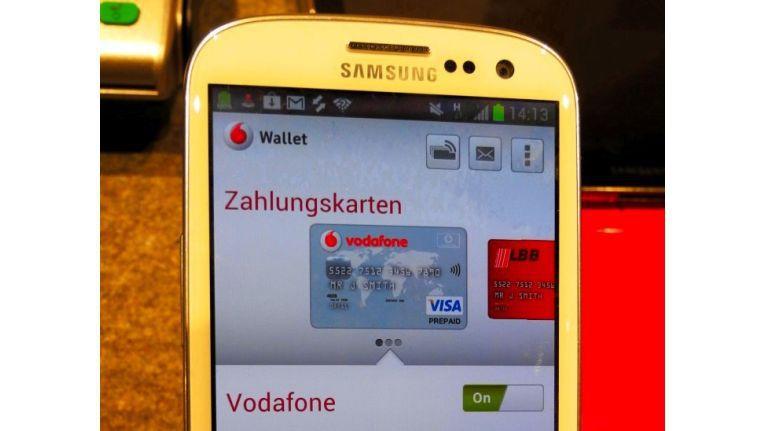 Vodafone Wallet auf Samsung Galaxy S3: Bereits Ende 2013 ist Vodafone Wallet alias SmartPass nun regional in Düsseldorf gestartet. 2014 soll es sich über ganz Deutschland verbreiten.