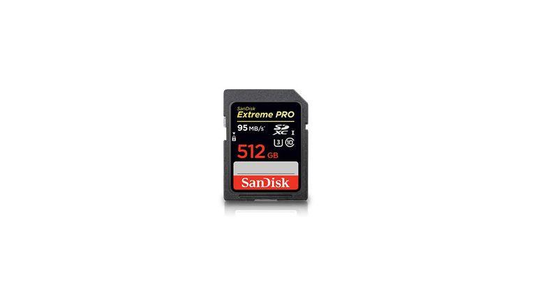 SanDisk bringt SD-Karte mit 512 GB heraus