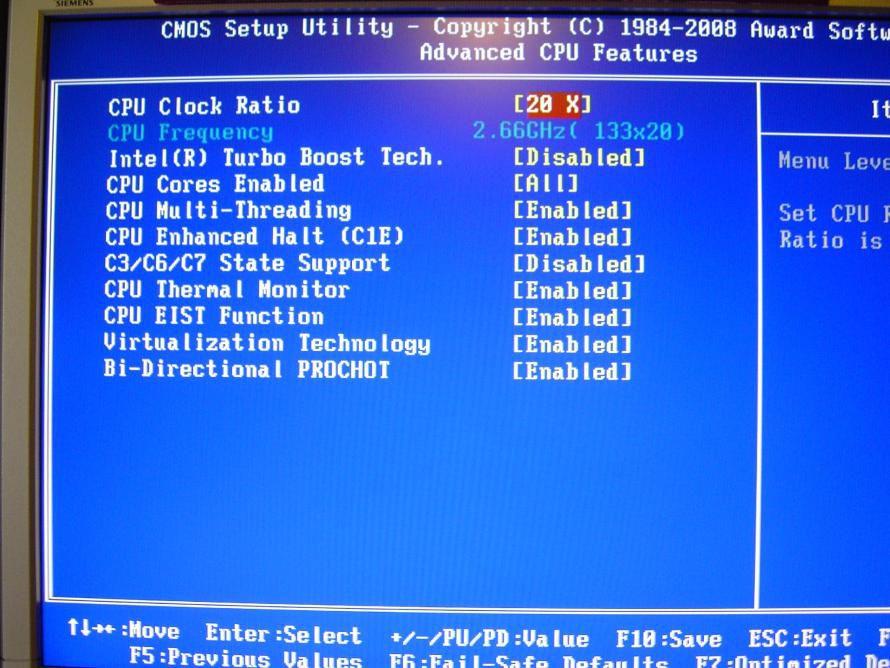 Bild: Im Detail: Im Award BIOS der Gigabyte Mainboard finden