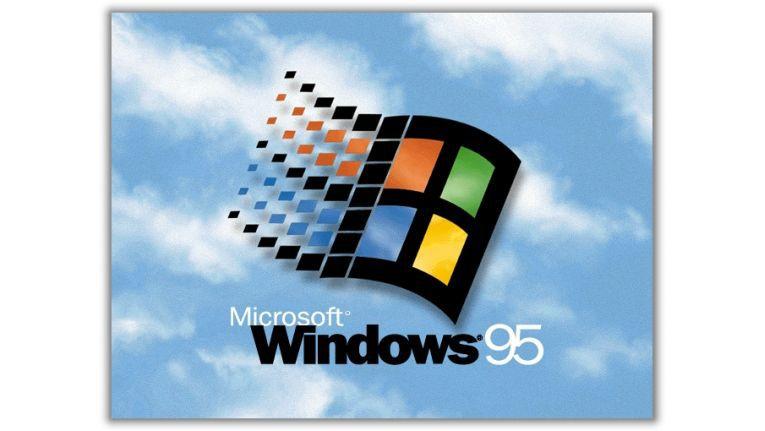 Ladebildschirm von Windows 95