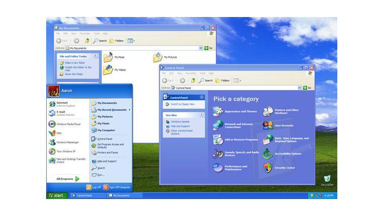 Benutzeroberfläche von Windows XP