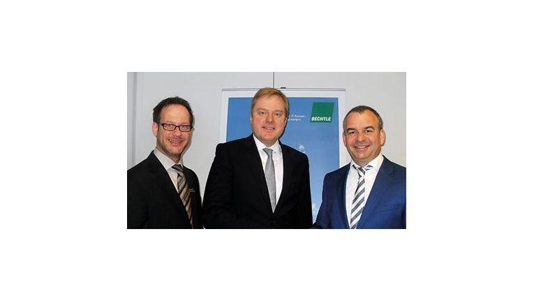 Thorsten Beuchel, Vertriebsleiter, Frank Wrede, Geschäftsführer, beide Bechtle IT-Systemhaus Dortmund sowie Pascal Lampe, Geschäftsführer Niro und byNiro.