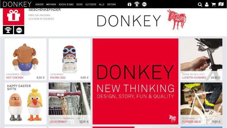 Mit dem neuen Shop kann Donkey auch online seinen Qualitätsanspruch demonstrieren