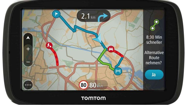 TomTom Go 50: Fünf-Zoll-Touchscreen und Kombination zweier Software-Angebote.