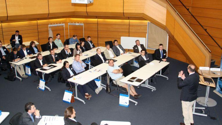 Knapp 150 eCommerce-Experten nahmen an dem eCommerce-Tag Rhein-Neckar in Mannheim 3. Juni 2014 teil.