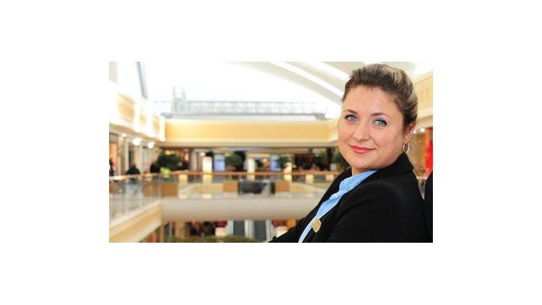 Shopping Center-Managerin Tetiana Zarichna ist mit der Darstellung von mStore nicht einverstanden