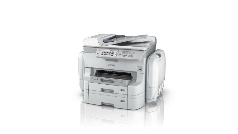 Soll bis zu 75.000 Seiten ohne Verbrauchsmaterialwechsel drucken: Epson WF-R8590DTWF Tintenstrahl-Drucker