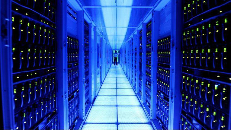 Ein Blick in das Innere des SAP Rechenzentrums in St. Leon-Rot, wo die Cloud for Customers betrieben wird.