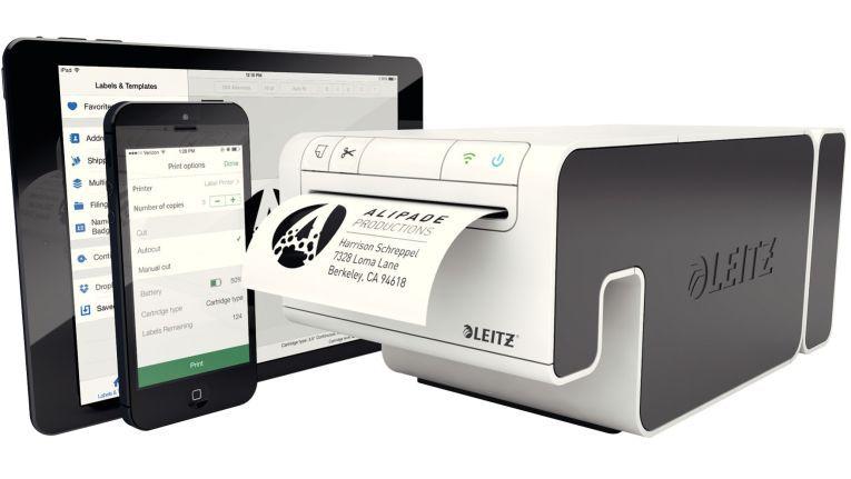 Der Esselte Leitz Icon soll bis zu 200 Etiketten pro Minute schaffen und kann über USB, WLAN oder iPhone gesteuert werden. Eine Android-App soll in Kürze folgen.