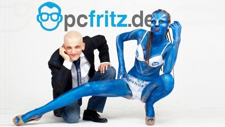 So sah die ursprüngliche Pcfritz.de-Werbung mit dem damaligen Pcfritz-Chef Maik Mahlow aus.