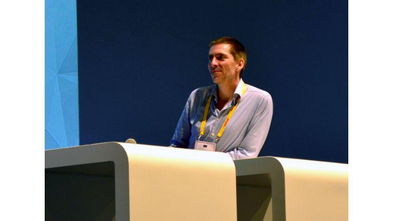 """Idealo-Gründer Martin Sinner auf der K5 2014: """"Media Markt hat mit der Kampagne gezeigt, gezeigt, dass es tatsächlich billig ist."""""""