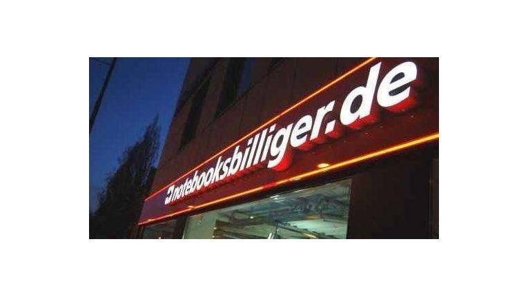 Fuhr in der Konsumentenbefragung eine der besten Bewertungen ein: Notebooksbilliger.de im Segment Consumer Electronics