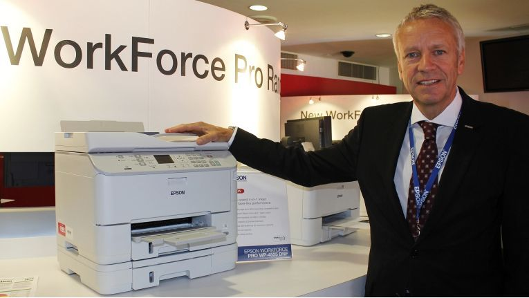 Epson-Chef henning Ohlsson kann sich über einige lukrative Projekte mit den Tintenstrahldruckern der WorkForce-Pro-Reihe freuen.