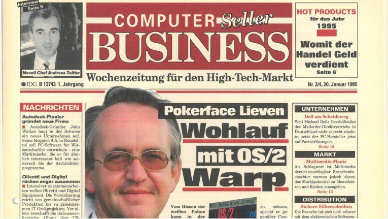 Das war die erste Ausgabe der CP, damals noch unter dem Brand Computer Seller Business, vom 20. Januar 1995.