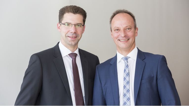 Die Büroring-Vorstände Jörg Schaefers und Ingo Dewitz sind zufrieden mit der Entwicklung bei dem Bürofachhandelsverbund.