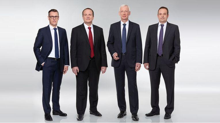 Die neu formierte Deutschlandspitze bei Ingram Micro: Alexander Maier, Ernesto Schmutter, Klaus Donath und Wolfgang Jung.