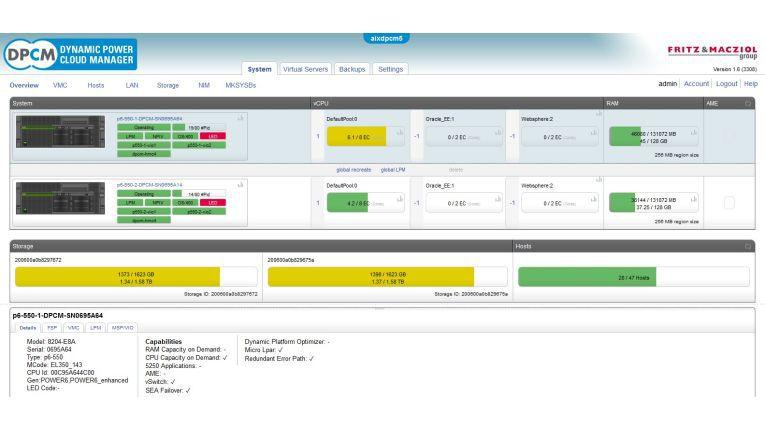 Einen kleinen Vorgeschmack auf die neuen Funktionen des Dynamic Power Cloud Manager (DPCM) in der Version 1.6 zeigt dieser Bildschirmausschnitt.