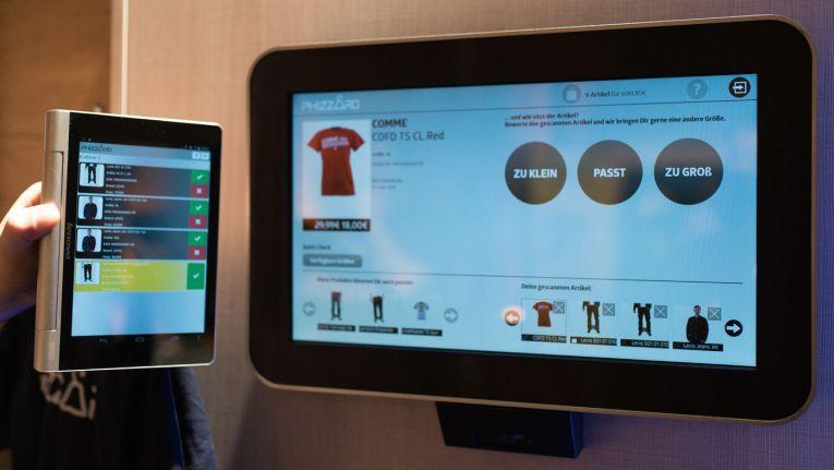 Die Phizzard-Lösung besteht aus einemTouchscreen incl. Barcodescanner, einem Tablet für den Verkäufer, einem Monitor zur Anzeige des Bringservice-Status und einem Miniserver im Phizzard-Rechenzentrum.