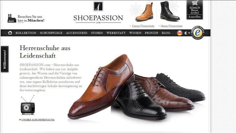 Die Homepage von shoepassion.com