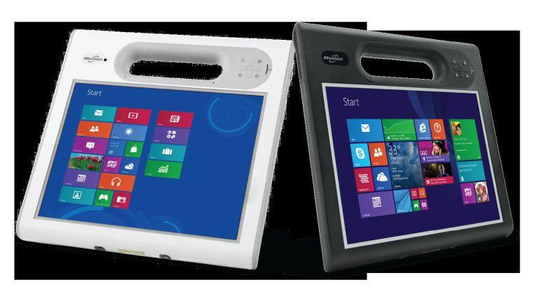 Die beiden Tablets F5m und C5m von Motion Computing zeichnen sich durch eine besonders robuste Bauweise aus.
