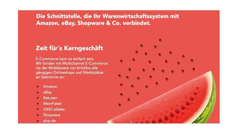 Auch Online-Shops und Auktionsplattformen müssen an das ERP-System angebunden weren,