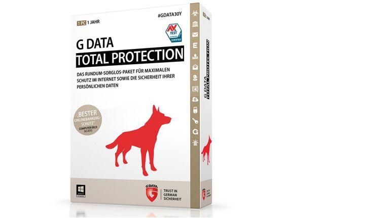 G Data Total Protection: Extras wie Verschlüsselung persönlichen Daten und Gerätekontrolle.
