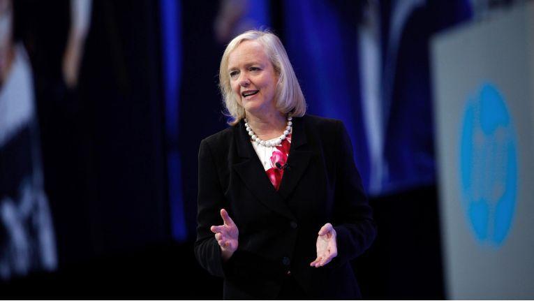 Meg Whitman auf der Hewlett-Packard Global Partner Conference 2015.