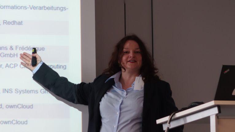 Andrea Mörike, bei wonCloud zuständig für den Vertrieb in der Region EMEA, konnte in München zum ersten Händler- und Kundentag rund 40 Gäste begrüßen.