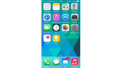 Apple iOS 8.1 auf dem iPhone 5, iPhone 6 und iPhone 6 Plus - Dezentes Facelift
