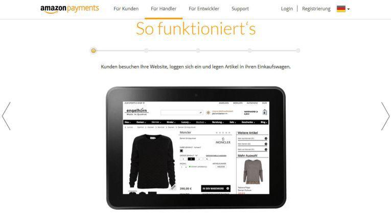 Auf der eigenen Website erklärt Amazon wie das eigene Payment-System in einen Webshop integriert werden kann.