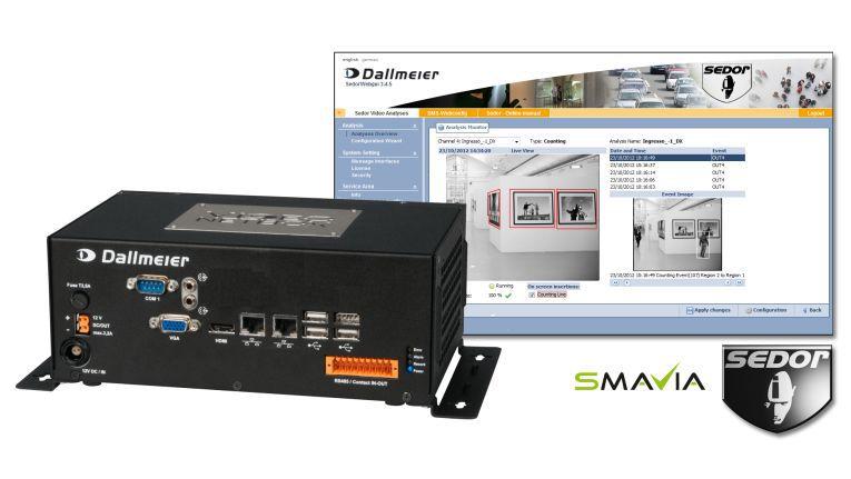 Die Videoanalyse-Appliance DVS 800 IPS von Dallmeier unterstützt die Analyse von bis zu vier und die Aufzeichnung von bis zu acht IP-Videokanälen.