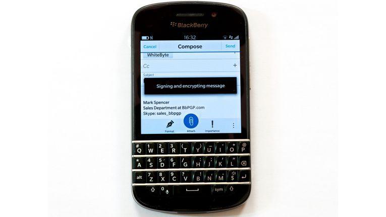Mit PGP-Verschlüsselung können Blackberry-Nutzer ihren Mail-Verkehr zusätzlich absichern.