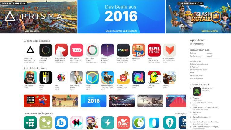 Apple Best Of Ios Die Besten Apps Für Iphone Ipad 2016