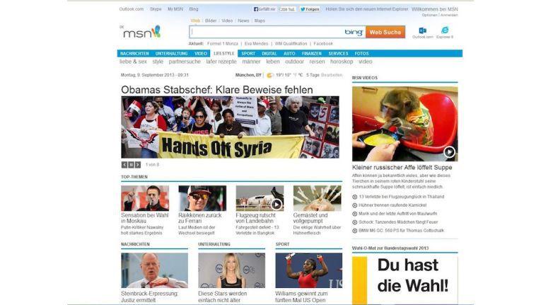 Seiten mit vielen Grafiken bringen den Internet Explorer zum Absturz.
