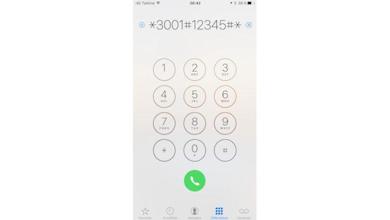 Den Field-Test aktivieren Sie durch Eingabe einer Nummer in der Telefon-App des iPhones.