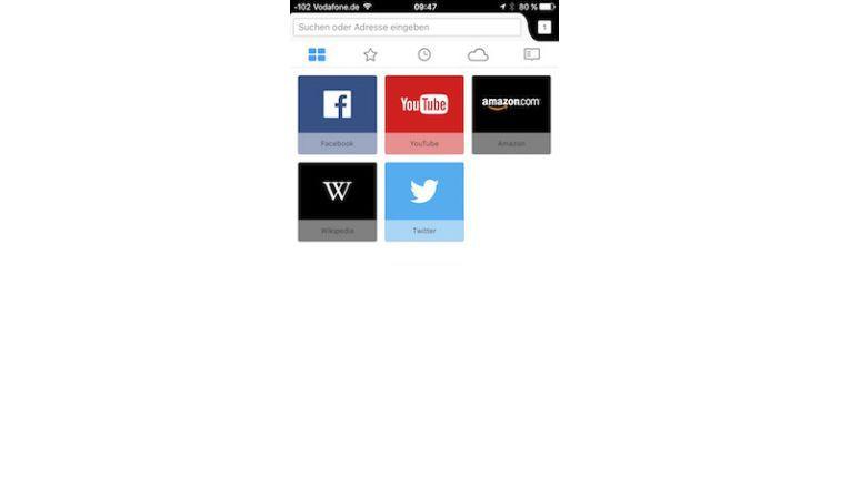 Beim Starten zeigt Firefox häufig verwendete Seiten als Kacheln an.