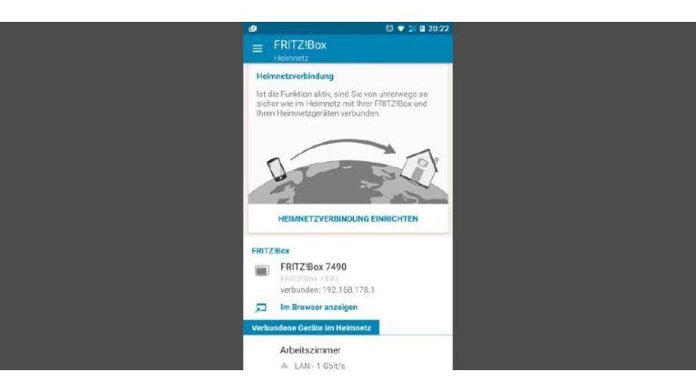 Heimnetzverbindung Fritzbox