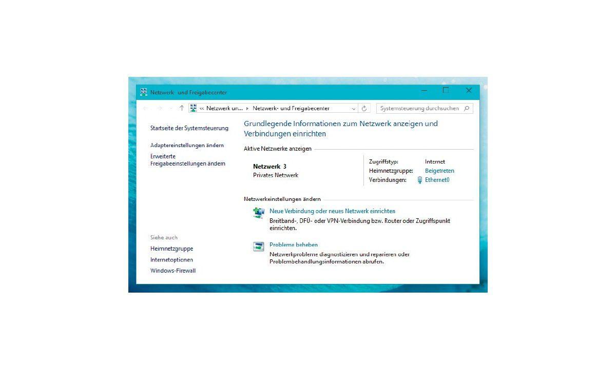 Einstellungen Im Netzwerk Und Freigabecenter Prüfen Windows 10 So
