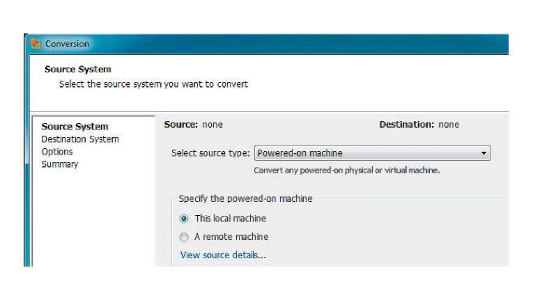 """""""This local machine"""" wählt Ihren Windows-PC als Quellsystem aus."""