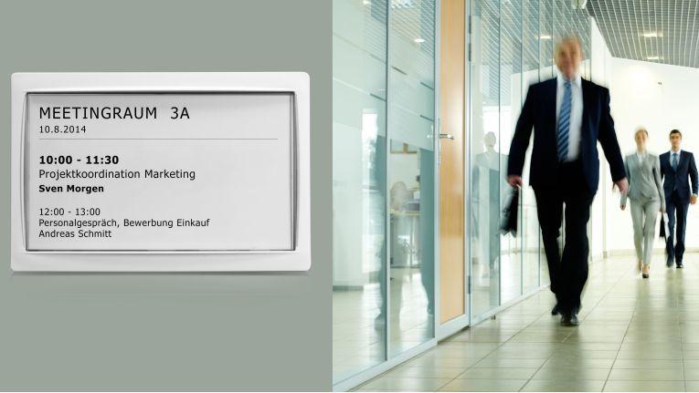 Die drahtlosen ePaper-Displays von Lancom sind in drei Größen erhältlich und durch die lange Batterielebensdauer von 5 bis 7 Jahren sehr wartungsarm.