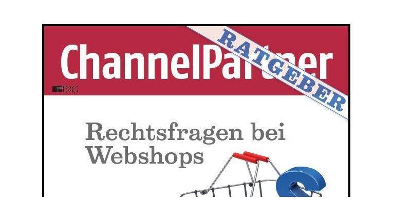 """Unter www.channelpartner.de/webshop können Sie sich den 13seitigen kostenlosen Ratgeber """"Rechtssicherheit im Webshop"""" herunter laden."""