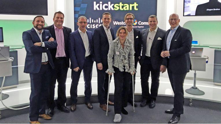 Cisco- und Comstor-Mitarbeiter sowie Partner beim Kick-off