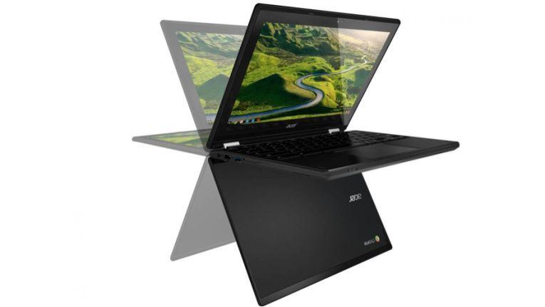 Acer Chromebook R11: Patentierter Scharnier-Mechanismus ermöglicht verschiedene Gerätestellungen.