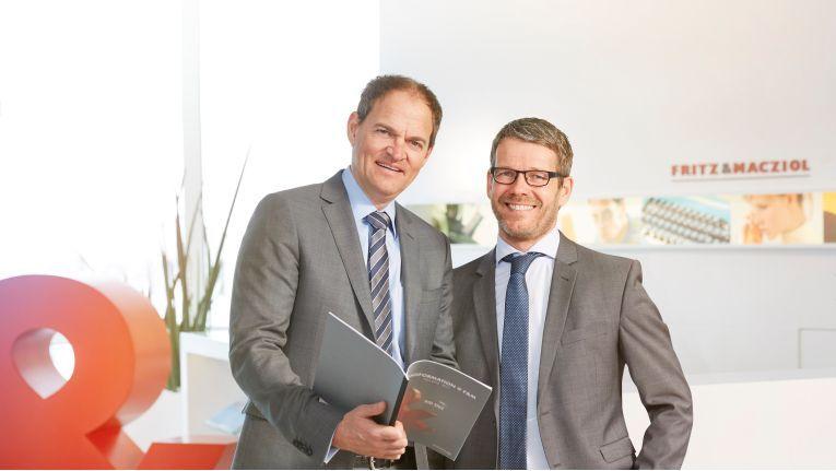 Fritz & Macziol habe die operativen Ziele erreicht und sei strategisch bestens aufgestellt, stellen die Geschäftsführer Oliver Schallhorn (links) und Stephan Pawlowski fest.